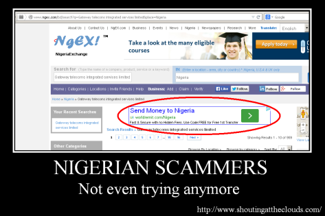 Nigerian Scammers