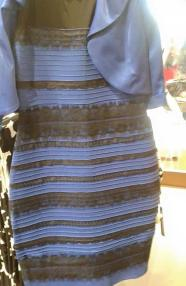 A dress of indeterminate colours